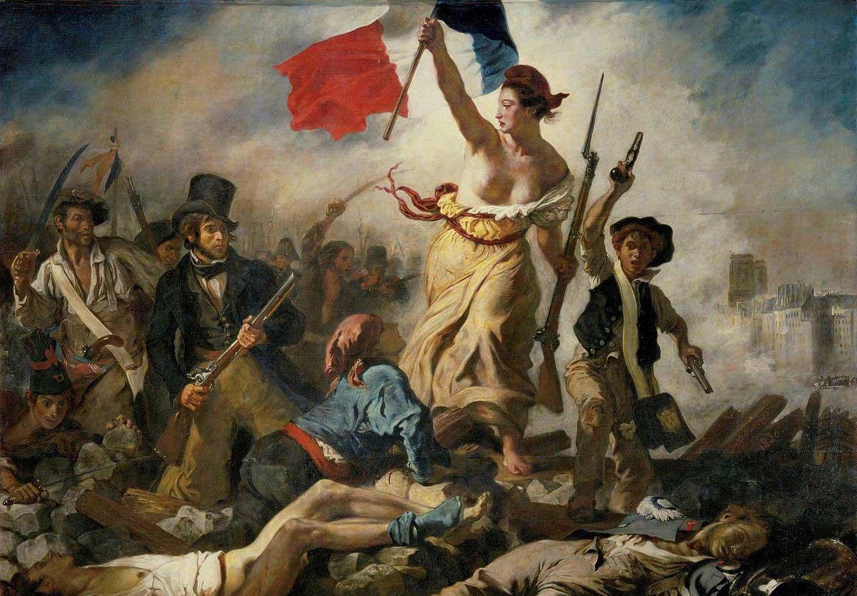 Delacroix symbole du combat pour les retraites