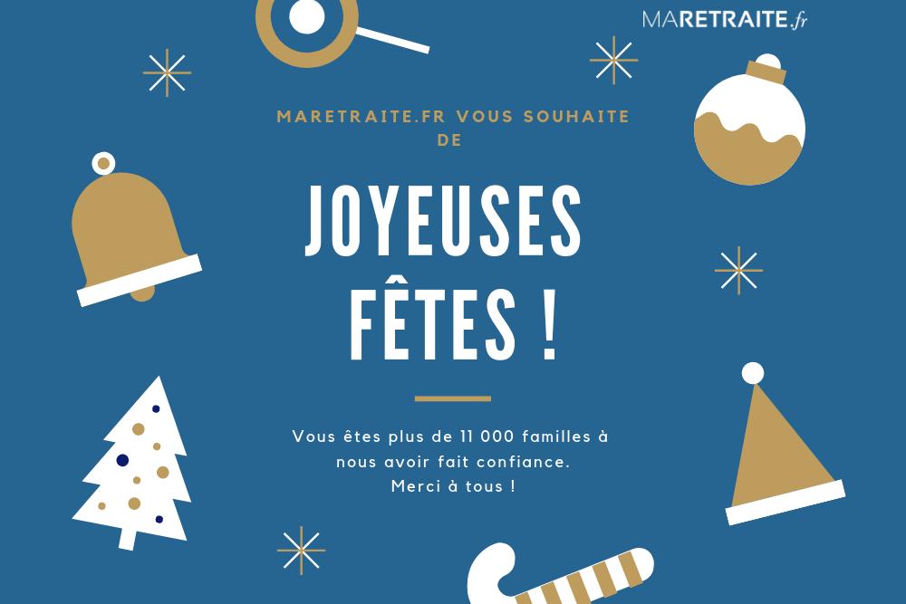 Joyeuses Fêtes de la part de MaRetraite.fr !